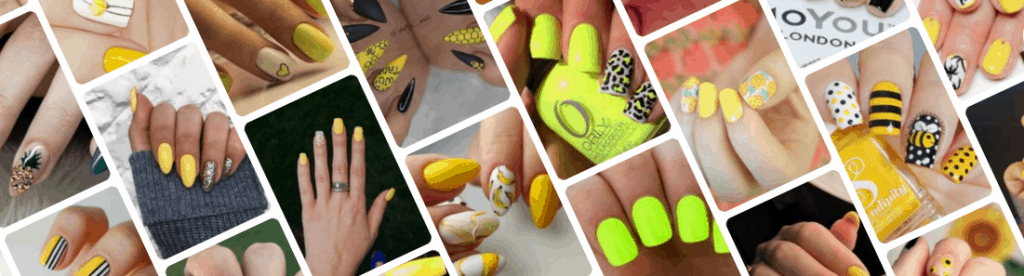 Uñas de color amarillo